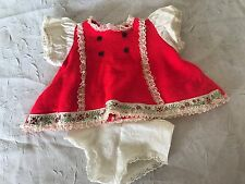 Vintage Vogue Baby Doll Red Dress Bloomers Clothing Outfit