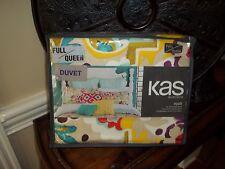 NIP Kas Australia Nyah Yellow/Purple/Pink/Aqua Floral Full/Queen Duvet Cover Set