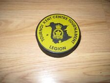 Memoriam Eorum Retinebimus Royal Canadian Legion Ice Hockey Tournament Game Puck