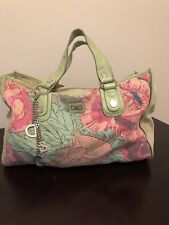 AUTHENTIC DOLCE & GABBANA LARGE SHOULDER BAG - Floral Lime Green w/ Keychain