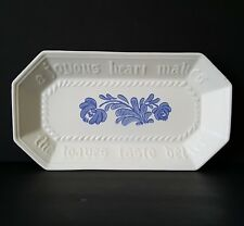 "Pfaltzgraff Yorktowne Bread Tray 12.5"" Embossed Joyous Heart Loaves Taste Better"