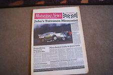 Motoring News 7 December 1988 Henri Toivonen Memorial Rally Martin Schanche