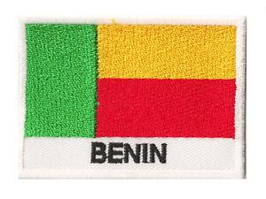 Badge Patch écusson patche drapeau BENIN 70 x 45 mm Pays monde brodé à coudre