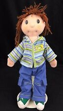 Zapf Creations Maggie Raggies Baby Rag Doll 12 Inch Ball Cap Hoodie Brown Hair