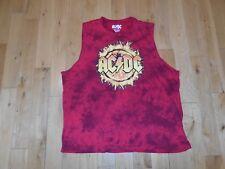 AC/DC Tie Dye Rock Band Sleeveless Muscle Shirt Tank MENS 2XL Tour Concert
