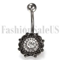 Popular Bohemia Navel Belly Ring Zicon Button Bar Barbell Body Piercing Jewelry