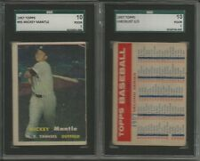1957 Topps Baseball 209/407 cards set/lot Mickey Mantle #95 SGC graded High #s