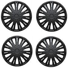 "16"" Spark Black Universal Wheel Trims Hub Caps Set Of 4 For All Makes & Models"
