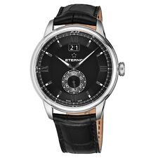Eterna Men's Adventic Black Dial Black Leather Quartz Watch 2971.41.46.1327