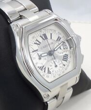 Cartier Roadster XL W62019X6 Chronograph Automatic Stainless Steel Watch *MINT*