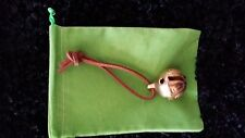 Polar Express Reindeer Bell #1 Solid Brass Bell w/ Brown tie & Green Bag