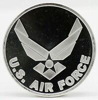 US Air Force USAF .999 Silver Art Medal / Round - 1 oz Troy Bullion - America