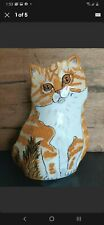 Cats By Nina Vase Planter Ginger Kitty Tabby Cat Lovers