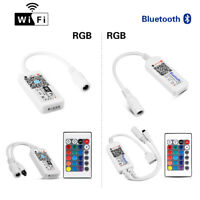 Bluetooth Wifi LED Controller + IR Remote For 5050 3528 RGB RGBW LED Strip Light