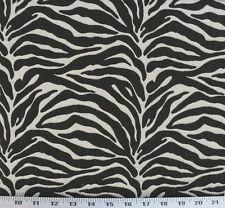 Drapery Upholstery Fabric Reversible Tiger Animal Print Chenille Matelasse'