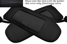 BLACK STITCHING FITS CORVETTE C5 1997-2004 2X SUN VISORS LEATHER COVERS ONLY