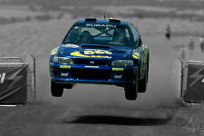 30x20 Inch Canvas -  Colin McRae WRC Rally Subaru Impreza Framed Picture Poster