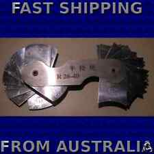 Inside and Outside Radius Gauge 26mm to 40mm