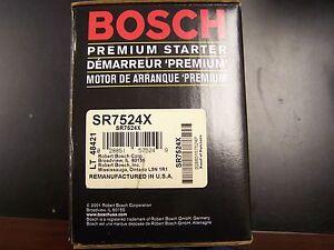 Bosch SR7524X SR7559X Remanufactured Starter Aerostar Probe Ranger Taurus