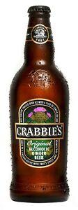 Crabbie's  Alcoholic Ginger Beer 12 x 500ml Glass Bottles