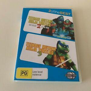 Teenage Mutant Ninja Turtles 2 & 3 DVD - 2 Discs - Region 4