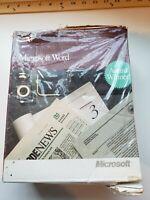 1991 Vintage Microsoft Word Apple Macintosh Series Word Processing Program New