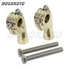 """2X 1"""" 25mm Solid Brass Handlebar Riser Mount Clamp Fit Motorcycle Old School Hot"""