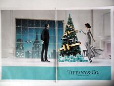 PUBLICITE-ADVERTISING :  TIFFANY & Co. New York [2pages] 2014 Bijoux,Mode,Sapin