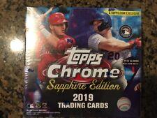 2019 Topps Chrome Sapphire Factory Sealed Hobby Baseball Box