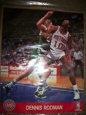 Vintage DENNIS RODMAN Detroit Pistons NBA HOOPS 8X10 Action Photo BRAND NEW