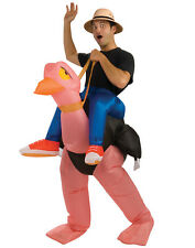 Mens Inflatable Ostrich With Battery Operated Fan One Size
