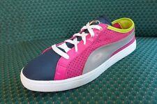 $85 New Womens PUMA Retro Shoes sz 8.5 PINK/Blue nylon 1980's 80s break canvas