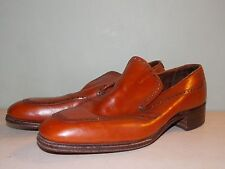 1970 Brown Leather Slip-On Men's Dress Shoes by Bostonian Size 9 1/2 A/Aaa used