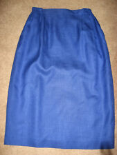 Womens Blue NORDSTROM Elastic Waist Below Knee Skirt 10
