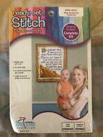 Janlynn Ready Set Stitch Cross Stitch Kit Baby Footprints Religious New 999-2012