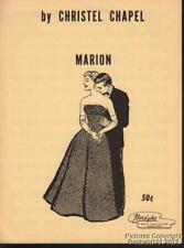 1961 Christel Chapel Pop Sheet Music (Marion)