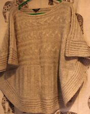 Great warm grey cable jersey. Knitted in 2 pieces. Savida Size 12 but fits most.