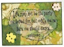 ACEO ATC Art Card Collage Original Ladies Life Party Should Dance Ballet Jazz