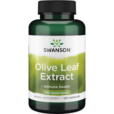 Swanson Olive Leaf Extract Capsules, 500 mg, 120 Count