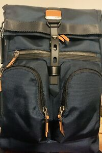 Tumi Alpha Bravo Collection. London Roll Top Navy Recyclable Theme