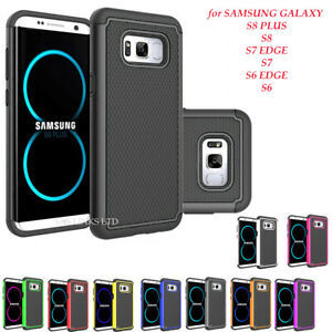 For Samsung Galaxy S6 S7 Edge S8 Plus Shockproof Heavy Duty Bumper Hard Case