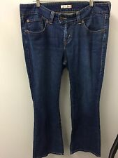 Levi's 542 Jeans 16 Flare Dark Wash Low Rise Bootcut OLD STYLE EUC !!!