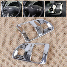 2Pcs Chrome Steering Wheel Cover Trim Decoration for 2011-2015 Kia Sportage R