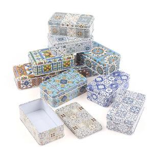 11.5*6.5*4Cm Storage Jars Rectangular Iron Tin Pill Gift Coin Jewelry Box Ho FD