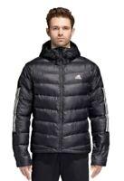 Adidas Mens Outdoor Itavic 3-Stripe Hooded Performance Jacket NWT Black 2XL