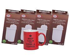 4x Filtro de Agua Compatible Siemens Brita Intenza EQ3 EQ5 EQ8 + Taza de café