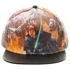OFFICIAL STAR WARS ORIGINAL TRILOGY LUKE SKYWALKER PRINTED PU SNAPBACK CAP (NEW)