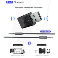 Portable USB Bluetooth 5.0 Transmitter Receiver 2 in 1 Stereo Audio Adapter--