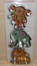 Jungle Animal Cookie Cutter Set,Chapix,Sweet Elite,Stainless Steel 3 pc.Monkey