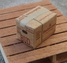 Budweiser Beer Case Miniature 1/24 Scale G Scale Diorama Accessory Item